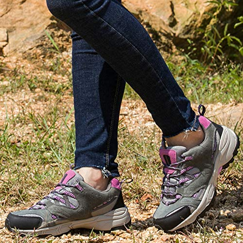 Spring Shoes Shoes resistant Sports Breathable slip Summer Hiking Gray Walking Women's purple Non And Outdoor Wear xtwOvnB