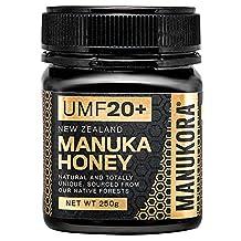 Manukora Manuka Honey UMF 20+, 250g (8.8 oz), Single Pack