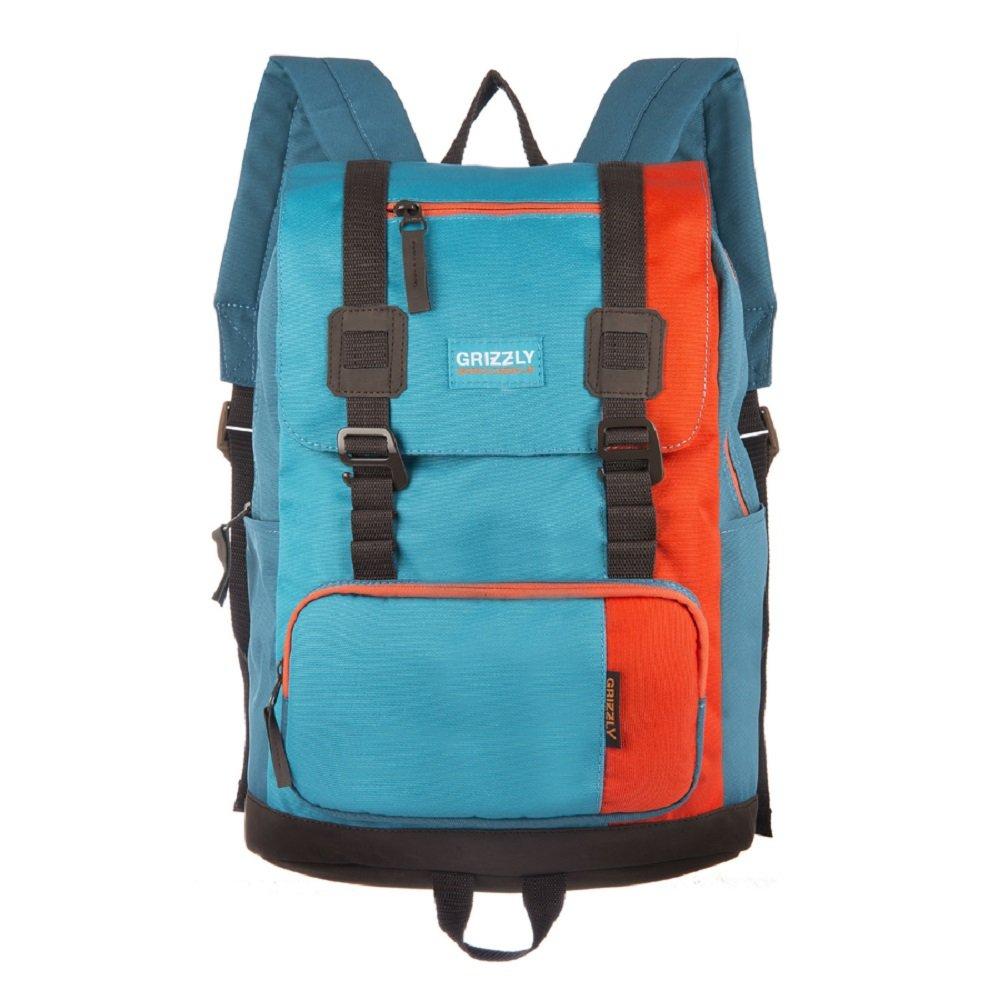 Grizzlyカジュアルデイパック、オレンジ - ブルー(オレンジ) - RU-619-2 / 1   B072LWCWPG