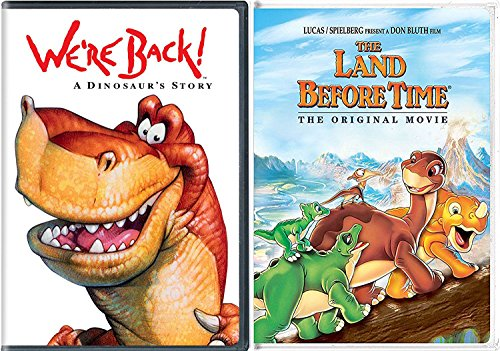 Land Before Time & We're Back DVD A Dinosaur Story Movie Bundle Family Cartoon Set (The Land Before Time Invasion Of The Tinysauruses)