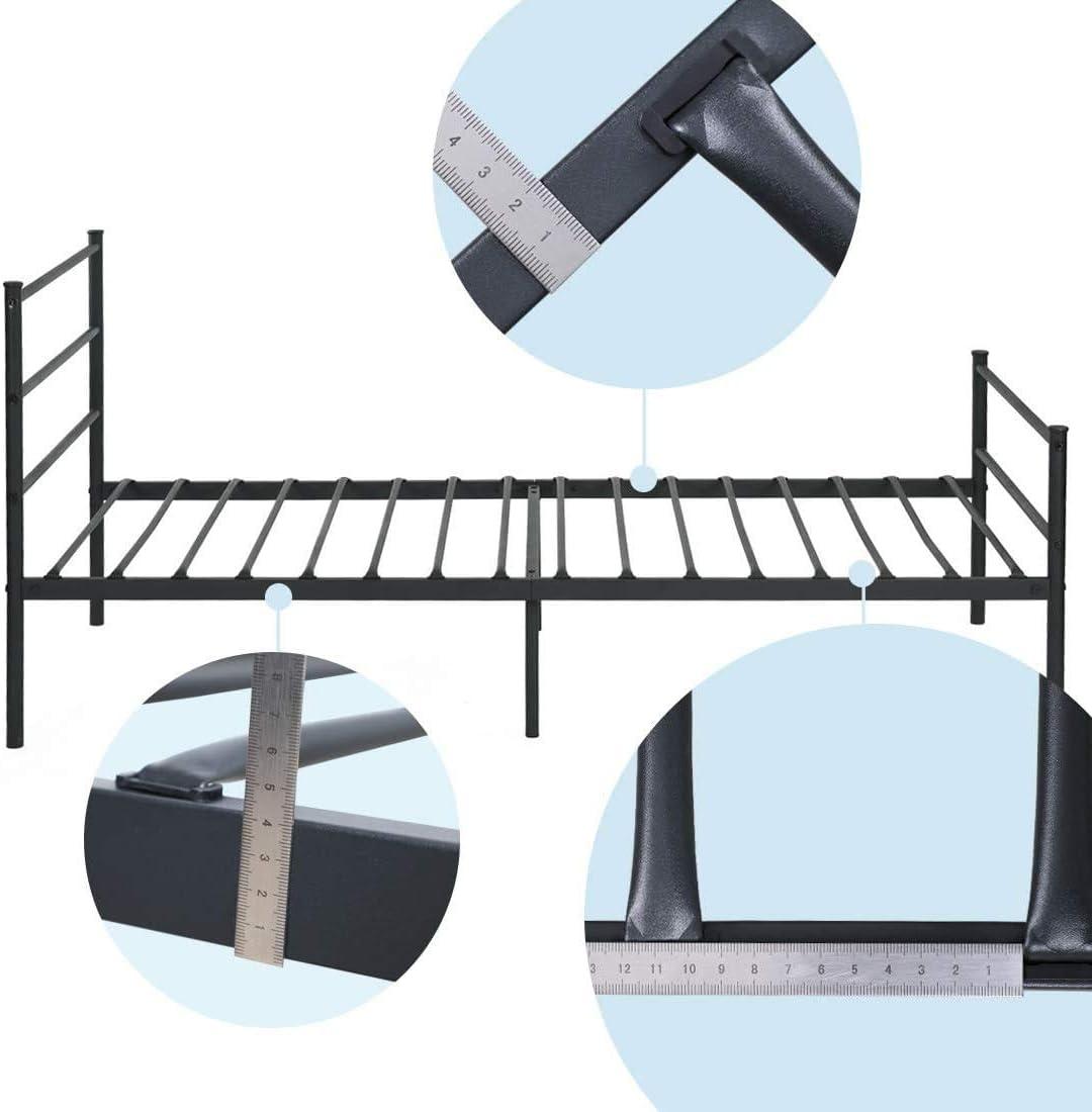 Aingoo Cama Estructura de Cama de Metal con Listones macizos para niños y Adultos (90_x_190_cm)