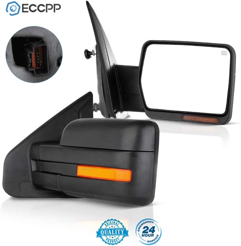 ECCPP Rear View Mirrors Towing Mirrors fit for 2004-2014 Ford F-150 with Power Heated ADP11643601S