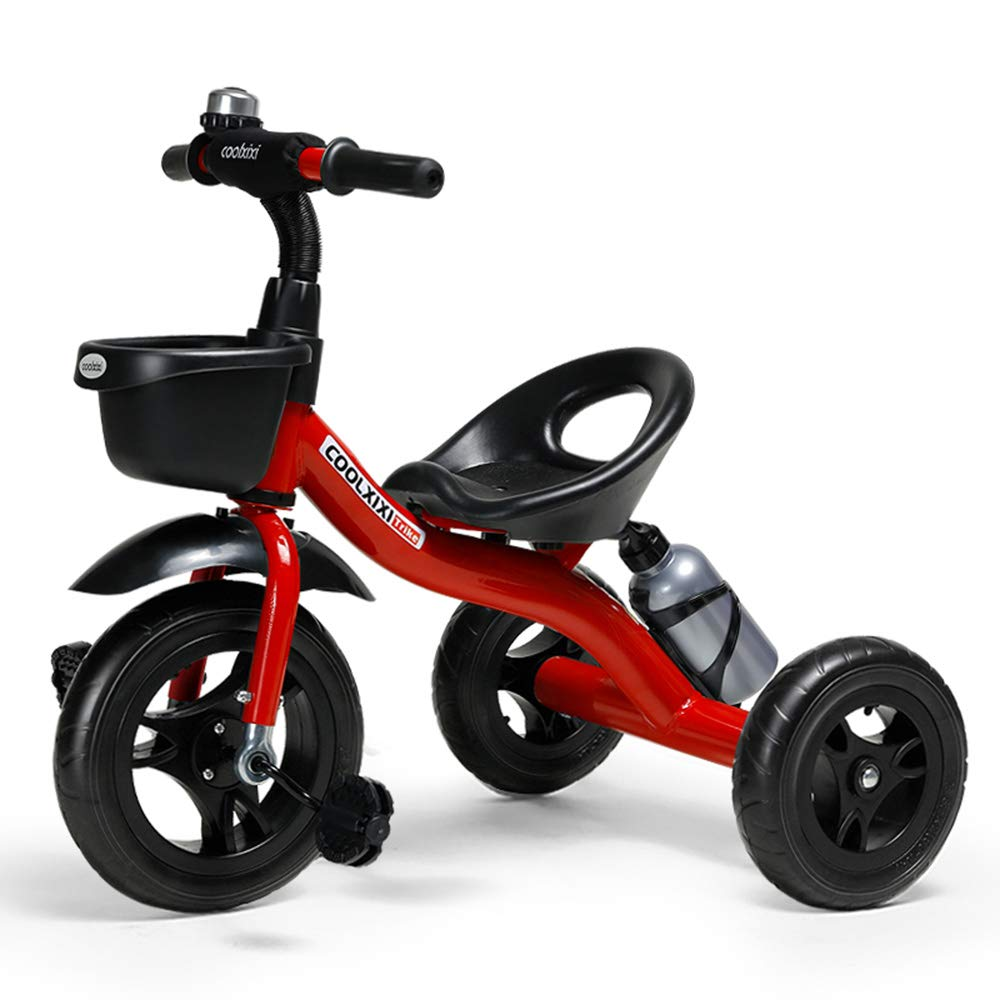 COOL-Series Kids Trike Toddlers Children Tricycle Stroller Trike 3 Wheel Pedal Bike Multicolor for 2 3 4 5 6 Years Old Boys Girls Indoor & Outdoor with Storage Bin and Cup Holder (Red)