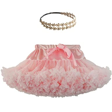 9a4944e4101a Amazon.com  Pretty choice Fluffy My First Halloween Baby Girls Tutu 1 Year  Birthday Princess Outfit Toddler Skirt  Clothing