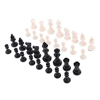 MagiDeal 32 Gioco da Tavola Set da Gioco Chessman 65mm Re per Gioco di Scacchi Internazionale Prop