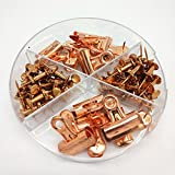 Push Pins and Binder Clip Set for Corkboard Metallic Rose Gold by Shahenz Office & Stationary