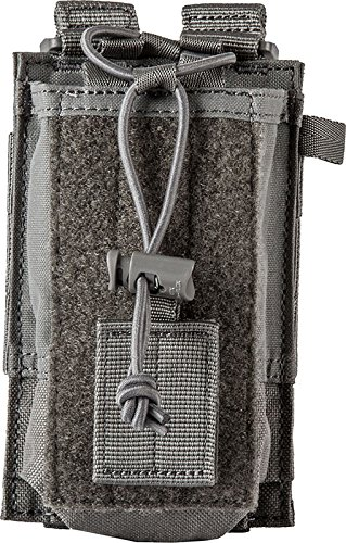 5.11 Radio Pouch Compatible with 5.11 Bags/Packs/Duffels, Style 58718, Storm by 5.11