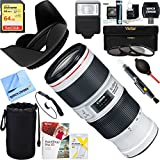 Canon (2309C002) EF 70-200mm f/4.0 L IS II USM Telephoto Zoom Lens + 64GB Ultimate Filter & Flash Photography Bundle