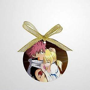 BYRON HOYLE Custom Personality Romantic Anime Fairy Tail Design Round Snoowflake Ornaments Christmas Ornaments Pandemic Xmas Decor Holiday Present