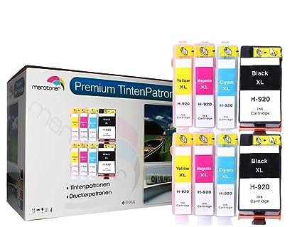 8 Cartuchos de impresora para HP 920 XL 920 X L con Chip (2 ...