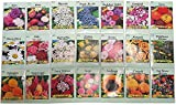 Set of 25 Assorted Valley Green Flower Seed Packets Thousands of Seeds