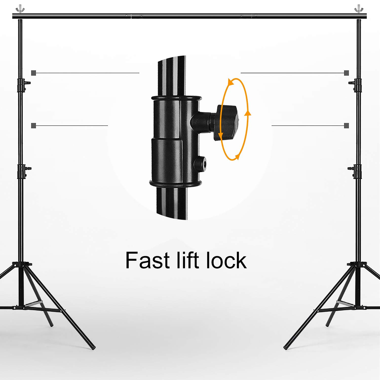 MOUNTDOG 6.5ftx10ft / 2M x3M Backdrop Support Stand Adjustable Photography Studio Background Support System Kit with Carrying Bag for Photo Video Shooting by MOUNTDOG (Image #5)