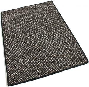 6'redondo–Sisal–área de interior/al aire libre alfombra, alfombras, corredores y alfombras antideslizantes para escalera con un Premium tela de nailon acabado bordes.
