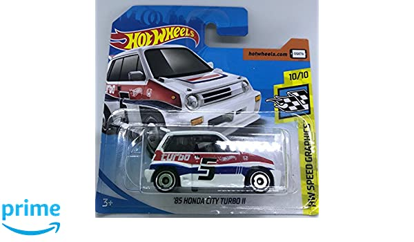 Hot Wheels 2018 85 Honda City Turbo II White 10/10 HW Speed Graphics 68/365 (Short Card): Amazon.es: Juguetes y juegos