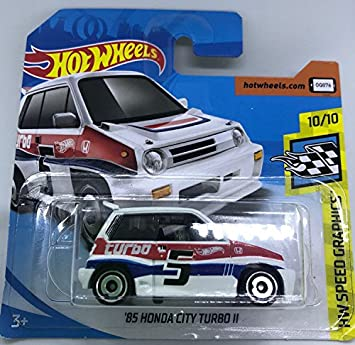 Hot Wheels 2018 85 Honda City Turbo II White 10/10 HW Speed Graphics