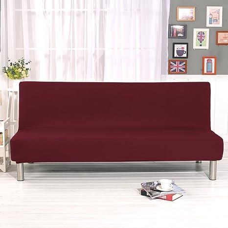 PengXiang - Funda para futón, sofá, Funda lisa/multicolor, tamaño completo, plegable, elástica, sin reposabrazos 200 x 127 cm, Protector de muebles, ...
