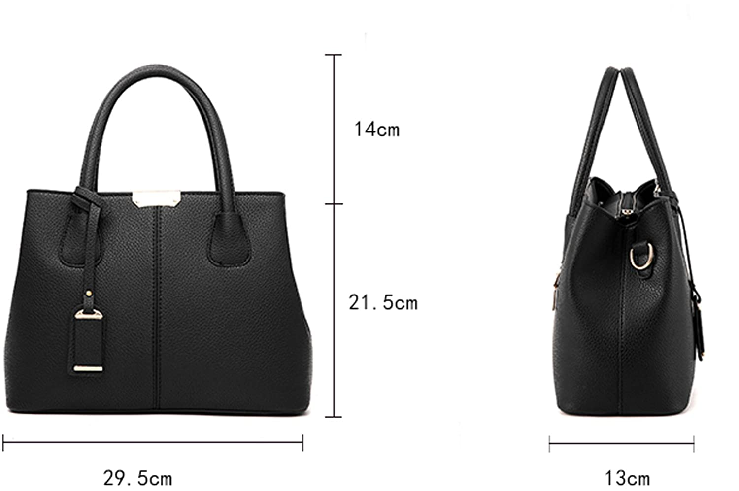 Covelin Womens Top-handle Cross Body Handbag Middle Size Purse Durable Leather Tote Bag J-HB055-P