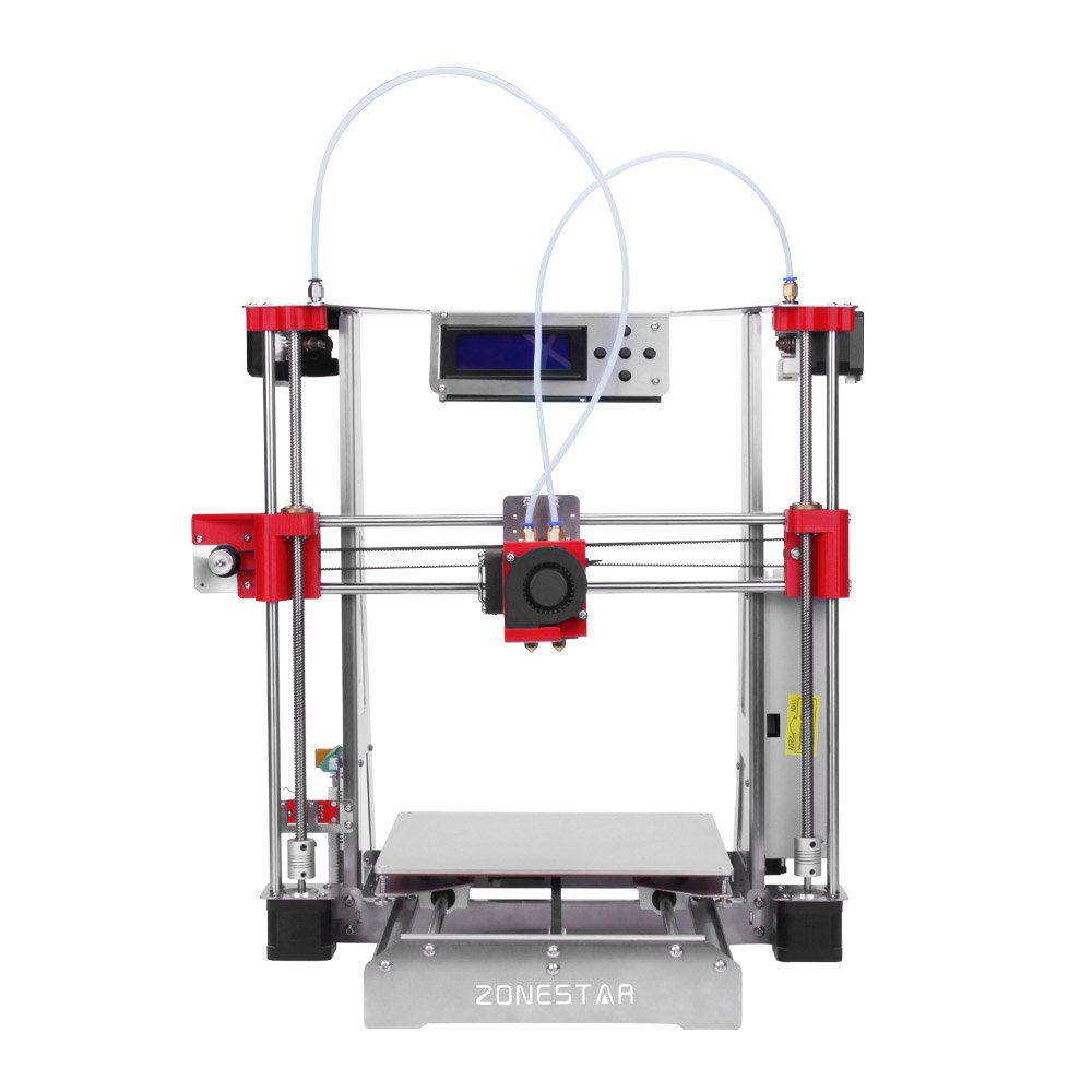 ZONESTAR P802QR2 i3 Metal FDM 3D Printer DIY Kit Dual Extruder Dual Color Printing Support Auto Leveling Resume Upgrade High Accuracy w/ Heatbed + 0.5kg 1.75mm White PLA Filament