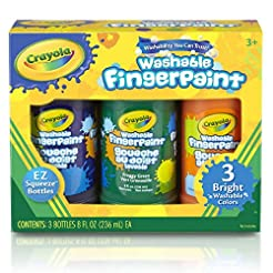 Crayola Washable Bright Fingerpaint, Sec...