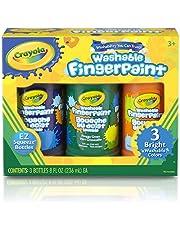 Crayola Washable Fingerpaint Secondary Colors, 3ct