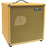 """Seismic Audio - 12"""" GUITAR SPEAKER CABINET EMPTY - 7 Ply Birch - 1x12 Cube Cab - Orange Tolex, Wheat Removable Cloth Grill - Front loading Speakerless Cabinet"""