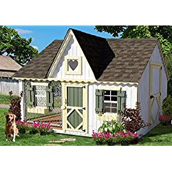 Little Cottage Company Victorian Cozy Kennel Panelized Playhouse Kit, 8' x 10'