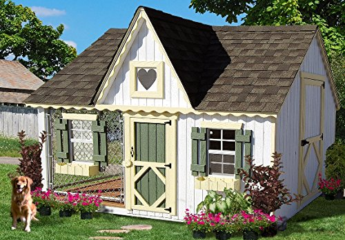 Little Cottage Company Victorian Cozy Kennel Panelized Playhouse Kit, 8′ x 10′