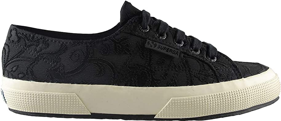 Superga Womens Embroidery Flower Crepe
