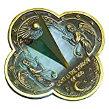 "Rome Industries 2340 Angel Sundial, Solid Brass with Verdigris Highlights, 9.75"" Diameter"