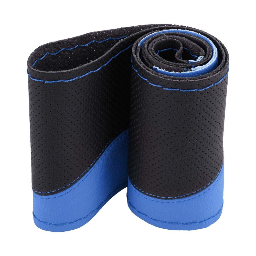 KIMISS universal Cubierta del volante Funda del volante del coche azul negro