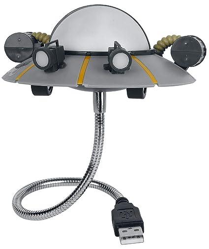 Paladone Products Lampara USB Rick & Morty Ricks Ship, gris ...