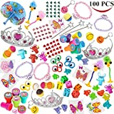 Joyin Toy 100 Pc Party Favor Toy&Accessory Assortment for Girls, Kids Party Favor, Birthday Party, School Classroom Rewards, Carnival Prizes, Pinata Toy, Stocking Stuffers, Halloween Accessories