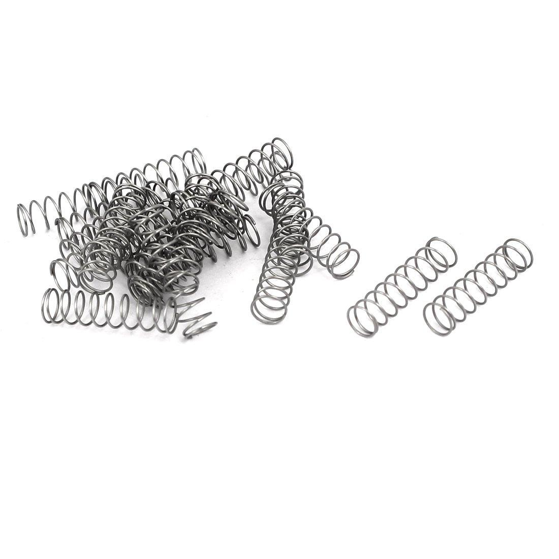sourcingmap 0.3mmx4mmx15mm 304 in acciaio inox Molle di compressione e 20pz