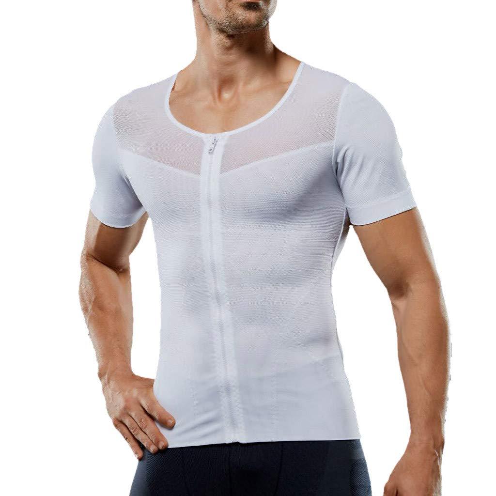 Mens T Shirts,Donci Mens Summer Casual Bodybuilding Sport Shapewear Fitness Tops Short Sleeve Tops