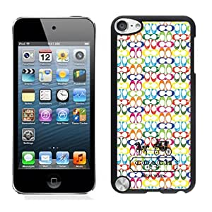 Genuine Coach 1-2 Black Ipod Touch 5 Screen Cellphone Case Sweet and Lovely Design