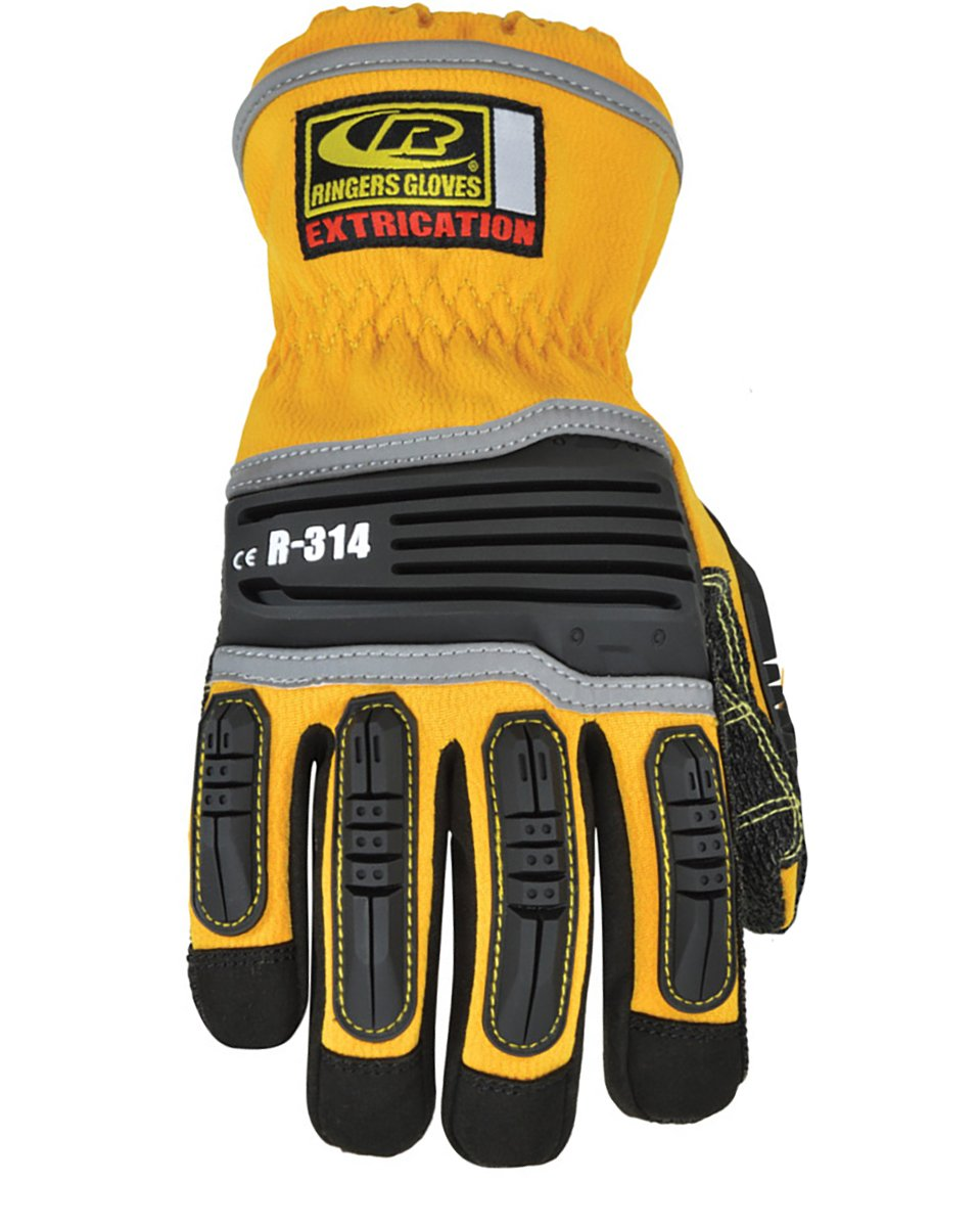 Ringers R-314 Extrication Gloves, Cut Resistant Work Gloves, Yellow, Large by Ringers Gloves (Image #2)