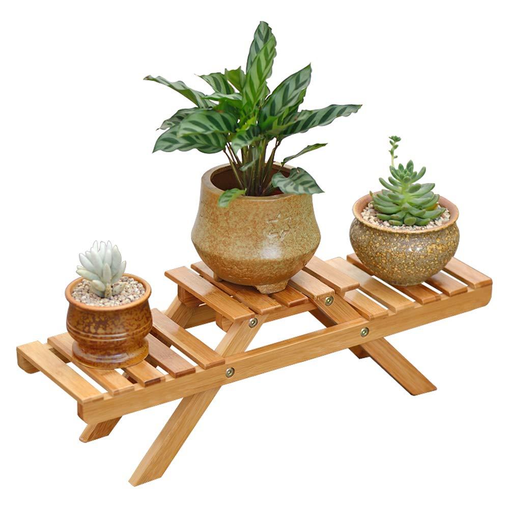 GYAO-Scaffali porta piante Flower Stand Stand in Legno massello Soggiorno Multi-Layer Pieghevole Flower Stand Balcone Carne Vaso per Fiori