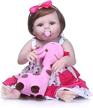 "22/"" Reborn Toddler Girl Baby Doll Lifelike Soft Silicone Vinyl Newborn Bebe Toy"