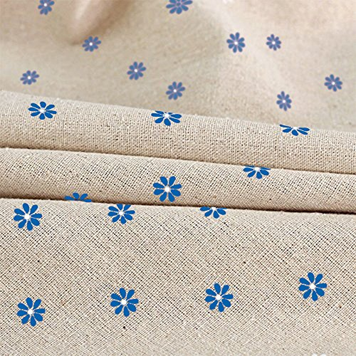 Cotton And Hemp, Machine Washable, Dinner, Summer & Picnic Tablecloth, Available In Various Sizes(Blue,35.4x55.1In) by LINENLUX (Image #2)