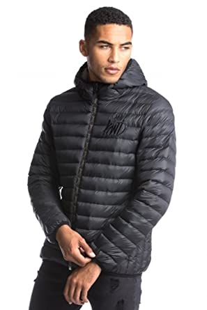 722c86e1e1c53 Kings Will Dream Ebley Camo Zip Puffer Jacket Black-L: Amazon.co.uk:  Clothing