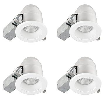 Globe Electric 4 1 2 quot  IC Rated Ridged Baffle Spotlight Recessed Lighting  KitAmazon com  Globe Electric 4 1 2  IC Rated Ridged Baffle Spotlight  . Easy Track Lighting Kit. Home Design Ideas