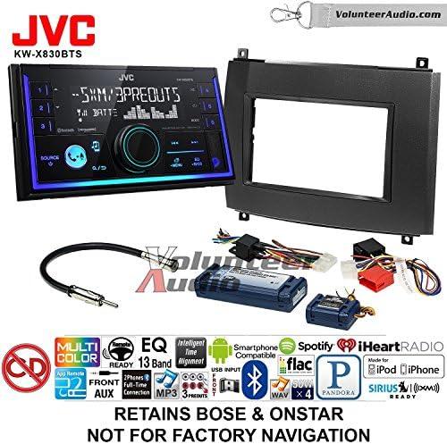 ボランティアオーディオJVC kw-x830btsダブルDINラジオインストールキットwith Bluetooth SiriusXM Ready Fits 2003–2007キャデラックCTS、2004–2006SRX