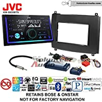 Volunteer Audio JVC KW-X830BTS Double Din Radio Install Kit with Bluetooth SiriusXM Ready Fits 2003-2007 Cadillac CTS, 2004-2006 SRX