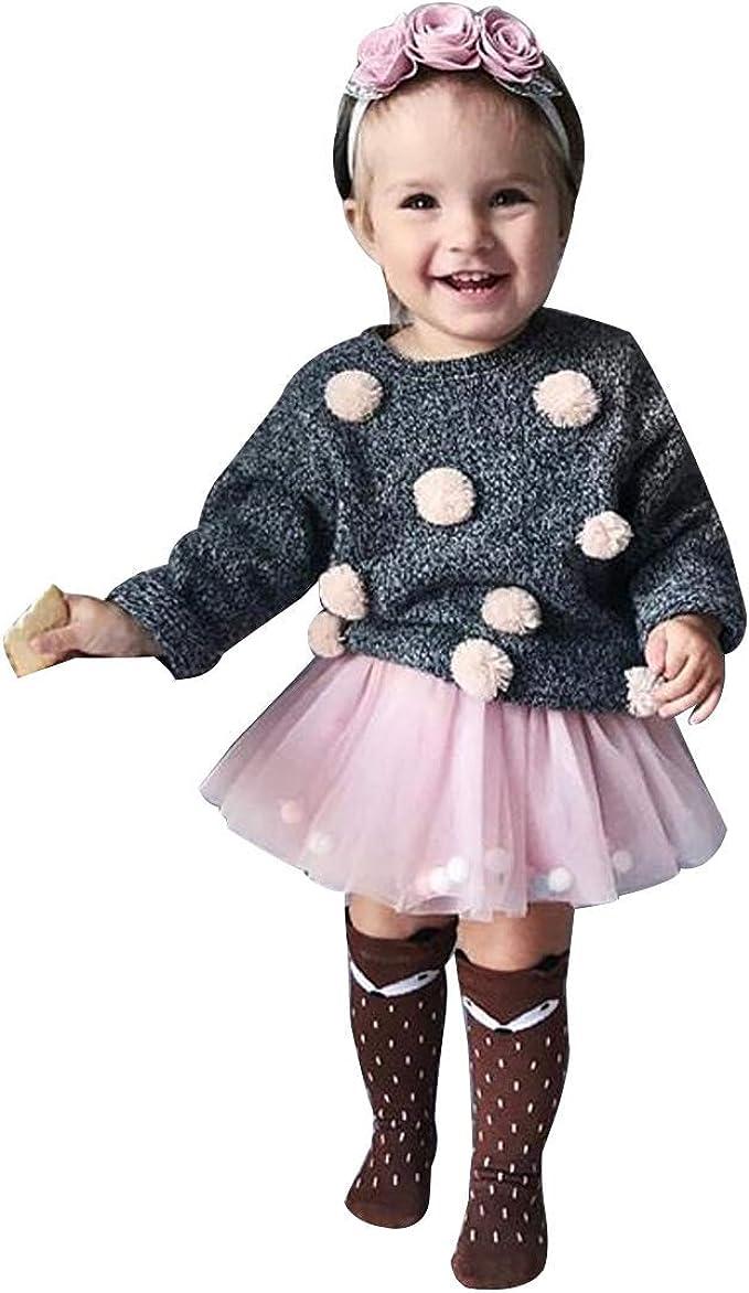 HOIZOSG Infant Baby Girls Princess Costume Birthday Bodysuit Romper Tutu Dress w//Headband Halloween Christmas Party Outfits