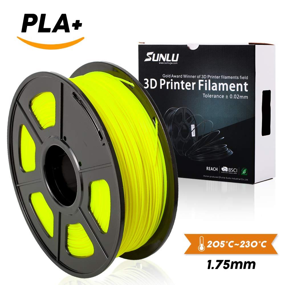 SUNLU 3D Printer Filament PLA Plus, 1.75mm PLA Filament, 3D Printing Filament Low Odor, Dimensional Accuracy +/- 0.02 mm, 2.2 LBS (1KG) Spool 3D Filament for 3D Printers & 3D Pens, Ivory White PLA+ SUNLUGW