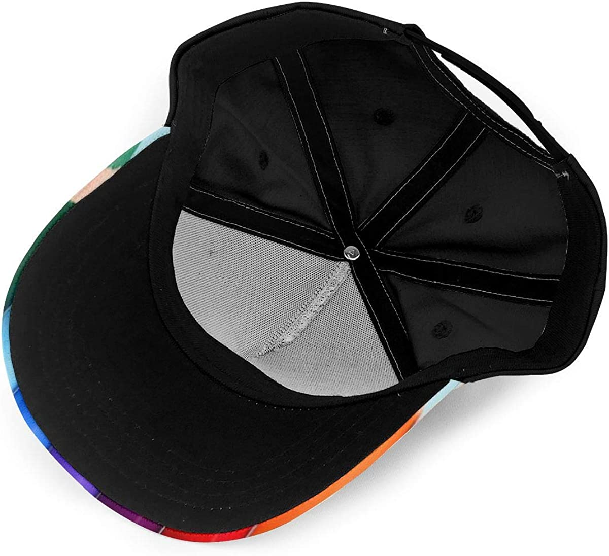 Colorful Wood Pencil Classic Baseball Cap Men Women Dad Hat Twill Adjustable Size Black