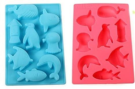 Chytaii Molde Cocina Moldes Plastilina Molde de Silicona para Pasteles Forma de Pescado para Cupcakes Gelatinas