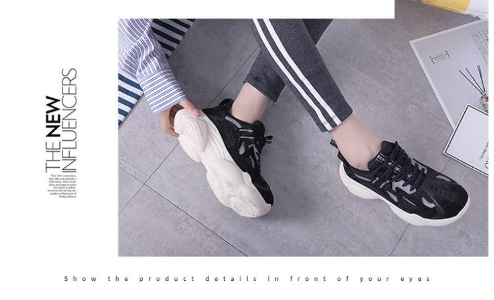 ZHIJINLI Coconut Schuhe Frühling Frühling Frühling Sport Schuhe Plattform Casual Schuhe Mesh flachen Boden, 7,5 GRÖSSE  996cab