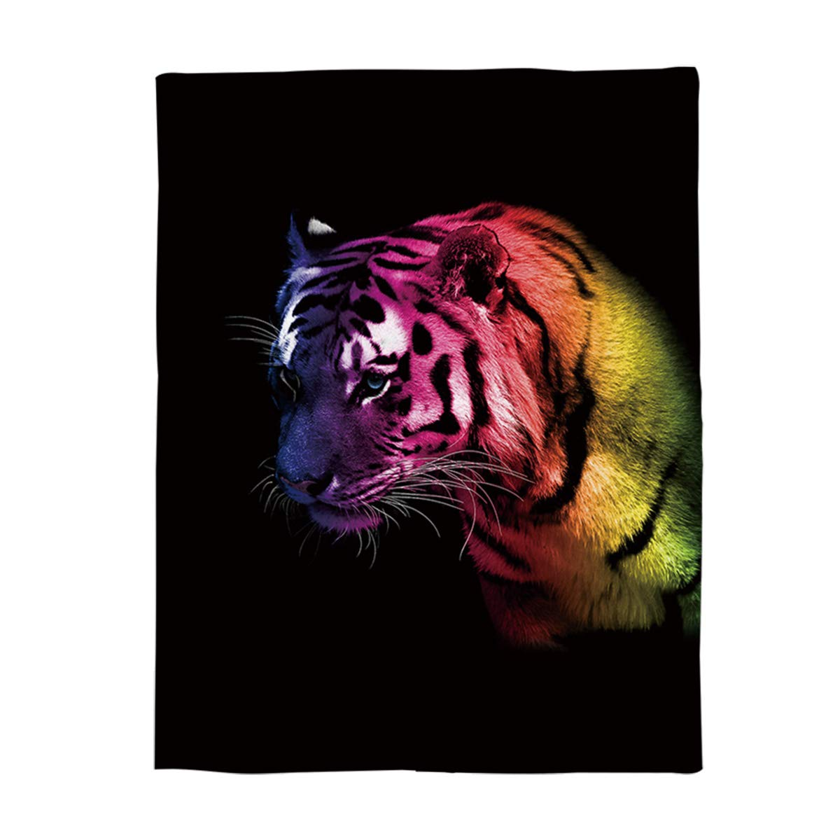 Tiger 2626lyag5103 49x59inch=125x150cm YEHO Art Gallery Flannel Fleece Bed Blanket Soft ThrowBlankets for Adult Kids Girls Boys,Cute Christmas Santa Claus Pattern,Lightweight Blankets for Bedroom Living Room Sofa Couch,49x59inch