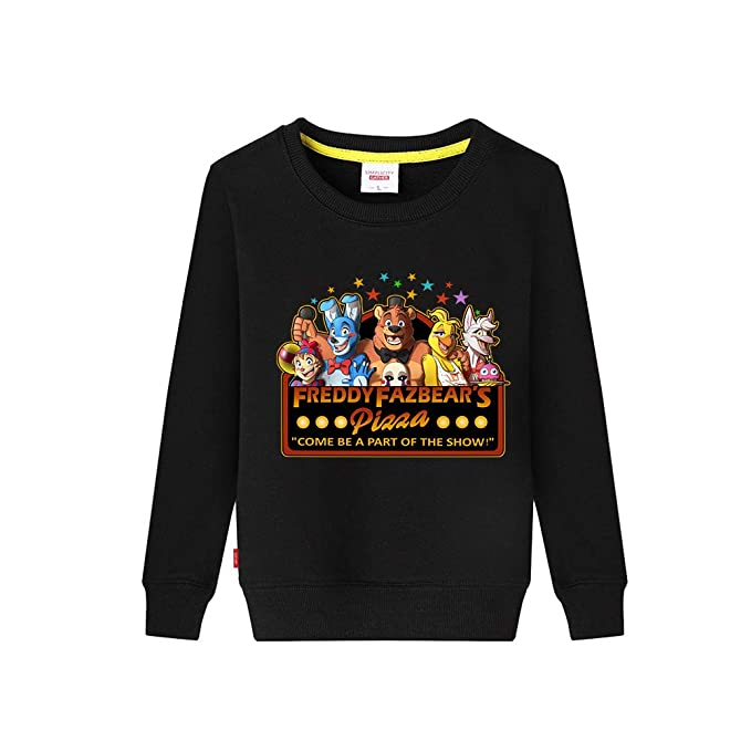 Five Nights at FreddyS Sudaderas Manga Larga para Niño y Niña Suéter Impresa Hipster Jerseys Cuello